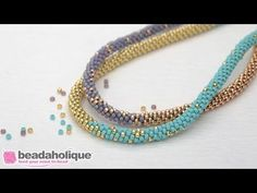 Seed Bead Tutorial ~ Chenille Stitch with Border
