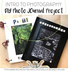 Have your photography students create their own photo journals to include their favorite photographs, take field notes, and jot down memories. Photography Journal, Photography Exhibition, Photography Challenge, Photography Classes, Photography Logos, Photography Business, Digital Photography, Amazing Photography, Boudoir Photography