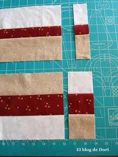 El blog de Dori: patchwork seminole  I would cut the outer strips 1/4(or more) wider to accommodate having a full 1/4 seam after trimming.