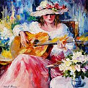 Acoustic Music - Palette Knife Oil Painting On Canvas By Leonid Afremov Art Print