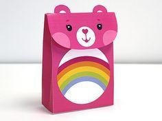 Care Bears Cheer Bear treat bag activity- printable project