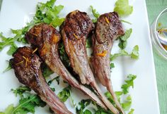 The Briny Lemon: Grilled Lamb Chops with Orange and Apricot Drizzle