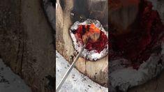 Шведская свеча на зимней рыбалке - YouTube