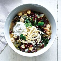 Black Bean, Hominy, and Kale Stew | MyRecipes.com