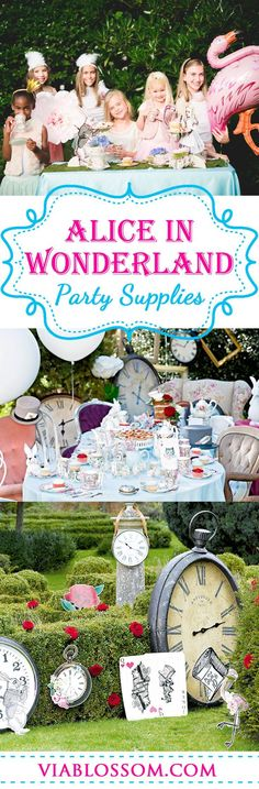 Must have Alice in Wonderland Party ideas for a magical Mad Hatter Tea Party Birthday! All the Mad Hatter Tea Party Decorations you will need for an Alice in Wonderland Party! #madhatterteaparty #aliceinwonderlandparty #madhatterpartyideas #teapartyideas #girlbirthdayparty