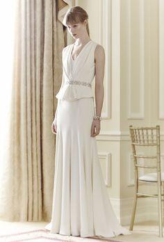 Jenny Packham Spring 2014 - so chic! #wedding