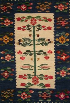 traditional Romanian rug, probably from the Gorj region