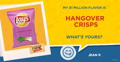 My take on Hangover Stew!  Do you have the next $1 Million flavor idea? Pitch us your flavor at Lays.com and you could be the next million dollar winner. Sounds pretty tasty, huh?