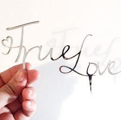 Cake Topper - TRUE LOVE di MerciDiCulto su Etsy