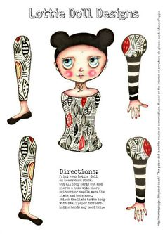 Paper doll DIY kit, paper puppet and free downloadable craft paper