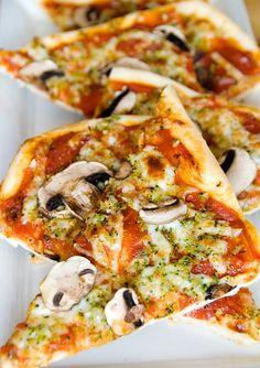 Masa de pizza delgada