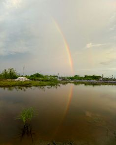 Ex Mining at Hauling Road km 13 Central Kalimantan INDONESIA  #rainbow #reflection #lake #indonesia