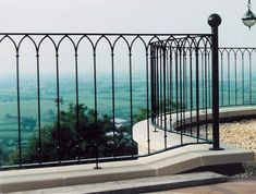 Top Quality Wrought Iron Simple Style Exterior Railing for Home picture from Xiamen Lion Iron Doors Co. view photo of Interior Railing, Exterior Railing, America Style Railing. Garden Railings, Patio Railing, Wrought Iron Stair Railing, Wrought Iron Fences, Staircase Railings, Porch Stairs, Loft Stairs, Garden Gates, Balustrade Balcon