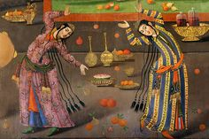 Safavid Art, Isfahan, Iran | Dancers. A wall painting from C… | Flickr
