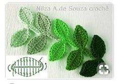 How to crochet leaf. Could be a nice corsage with soft scarf – Artofit Crocheted pink pansies in box frame wall art - Salvabrani Irish lace, crochet, crochet patterns, clothing and decorations for the house, crocheted. This Pin was discovered by Pau Fot Crochet Leaf Patterns, Crochet Leaves, Crochet Motifs, Freeform Crochet, Crochet Diagram, Crochet Chart, Crochet Designs, Crochet Puff Flower, Crochet Flower Tutorial