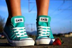Turquoise chucks :)