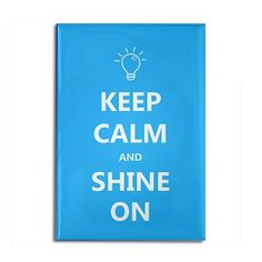 Keep Calm and Shine On Autism Awareness Magnet  Artzee Chris Gifts