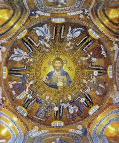 """Mosaic of Christ Pantocrator from the Palatine Chapel in Palermo, Sicily. Byzantine Icons, Byzantine Art, Early Christian, Christian Art, Catholic Art, Religious Art, Mosaic Art, Mosaic Glass, Palatine Chapel"