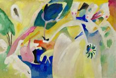 Vasily Kandinsky Pastorale, February 1911.   Oil on canvas, 41 5/8 × 61 5/8 inches (105.7 × 156.5 cm). Solomon R. Guggenheim Museum, New York, Solomon R. Guggenheim Founding Collection 45.965 © 2014 Artists Rights Society (ARS), New York/ADAGP, Paris