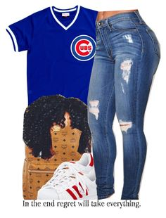 cubs. by trinityannetrinity on Polyvore featuring polyvore fashion style adidas MCM clothing