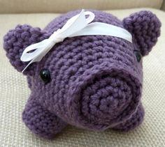 Purple Pig - free crochet pattern