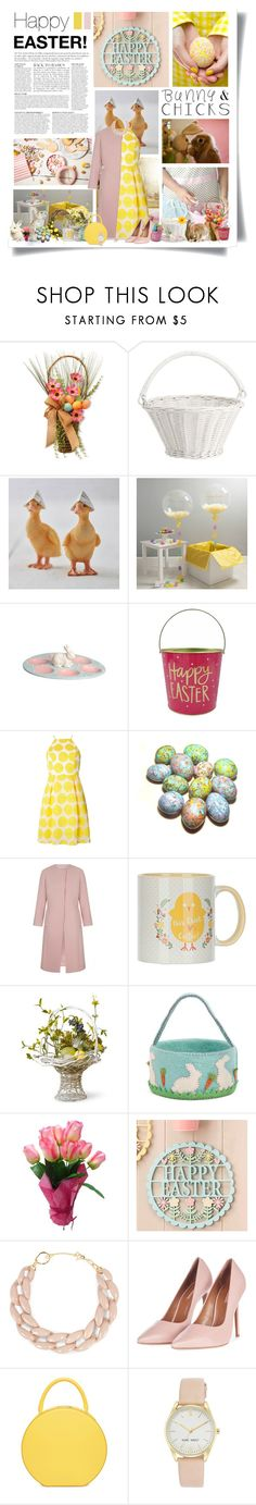 """Happy Easter!"" by kikusek ❤ liked on Polyvore featuring National Tree Company, Pottery Barn, Dorothy Perkins, Anja, DIANA BROUSSARD, Topshop and Nine West"