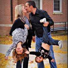cute family picture idea…captures the controlled chaos of family life!