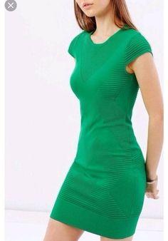 2c805646 Karen Millen textured Green Bodycon Dress Size Small 8-10 #fashion  #clothing #. Short Sleeve ...
