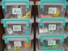 Alphabet boxes for circle time