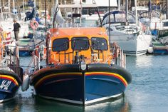 The first Shannon class lifeboat on trials at Ramsgate. Search And Rescue, Coast Guard, Trials, Boats, Ships, Boat, Ship