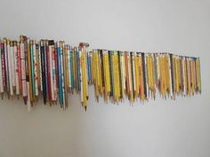 Made from everyday objects...those pencils in the bottom of your purse and junk drawer. Love it!