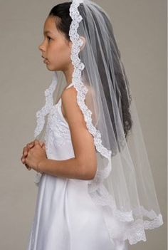how to wear a communion veil - Google Search