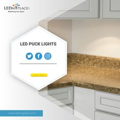 LED Puck Lights is one of the best interior lighting fixtures for your kitchen. Grab it now at reasonable prices at LEDMyplace. Led Puck Lights, Led Ceiling Lights, Led Light Fixtures, Types Of Lighting, Kitchen Shelves, Best Interior, Light Shades, Interior Lighting, Kitchen Design