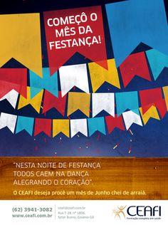 """Arte """"Festa Junina"""" para o CEAFI."""