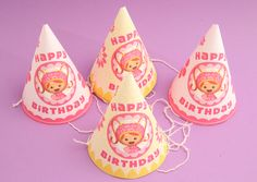 No birthday party is complete without party hats.  Print these out to make your own Milli hats!
