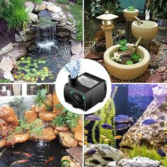 Submersible Water Pump W/ 6 Ft Power Cord Aquarium Fish Tank Fountain Pond Evident Effect Pumps (water)