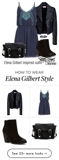 """Elena Gilbert inspired outfit/TVD"" by tvdsarahmichele on Polyvore"
