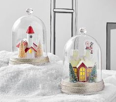 Light Up House In Cloche