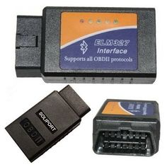 Amazon.com: Soliport ELM 327 Bluetooth OBDII OBD2 Diagnostic Scanner. Similar to another device I pinned, this one costs less than $15. Reviews are mixed, but mine works fine so far!