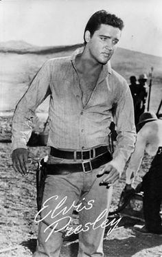 Elvis in august 1960 during the filming of his movie Flaming Star.