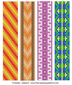 Loom+Beading+Patterns | Pulsera en telar de abalorios