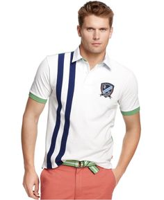 NWT-IZOD 2XL XXL Embroidered Logo Slim Fit Men's Polo Shirt Cotton 2X-LARGE  #IZOD #PoloRugby