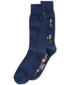 Polo Ralph Lauren Bear Trouser Socks, 2 Pack