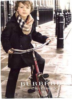 Burberry kids. So cute! I adore kids clothes.