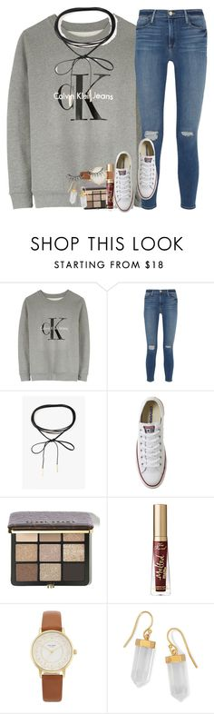 """""""it's snowinggg"""" by ellaswiftie13 ❤ liked on Polyvore featuring Calvin Klein, Frame, Azalea, Converse, Bobbi Brown Cosmetics, Too Faced Cosmetics, Kate Spade, BillyTheTree and MAKE UP FOR EVER"""