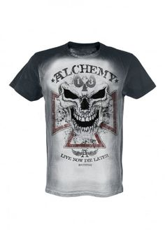 Alchemy England Apparel Reaper Cross T-Shirt | Attitude Clothing