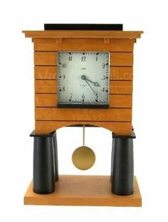 Contemporary Alessi Mantel Clock By Michael Graves