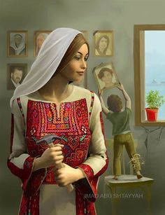 Shiny Tomorrow Art Print by Imad Abu shtayyah Palestine Art, Palestinian Embroidery, Color Psychology, The Rite, Embroidery Dress, Embroidery Stitches, Female Art, Bridal Dresses, Fine Art America