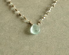 Green Fluorite Necklace, smooth light blue green fluorite pendant, knotted cord, sterling silver faceted beads, round clear fluorite stones https://www.etsy.com/shop/bluegreenjewels