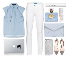 """"""":: winter white ::"""" by andreearucsandraedu ❤ liked on Polyvore featuring Versace, M.i.h Jeans, Karl Lagerfeld, Rebecca Minkoff, Gianvito Rossi, Bobbi Brown Cosmetics, Vinyl Revolution and winterwhite"""